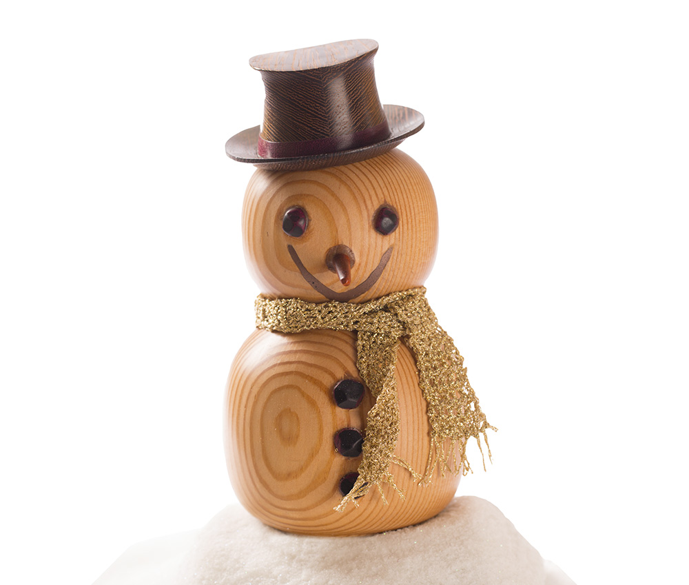 Handmade Wooden Snowman Christmas Ornament