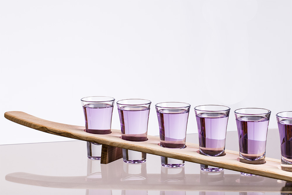 shots paddle with 6 glasses